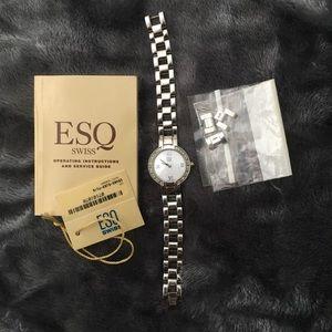 Genuine Movado ESQ Diamond Watch